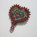 Heart brooch - £30